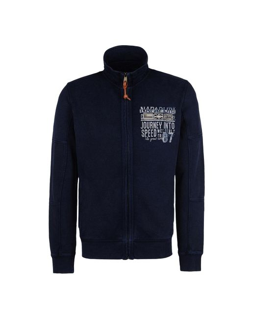 Napapijri | Blue Full Zip Fleeces for Men | Lyst
