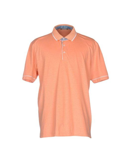 Andrea Fenzi | Orange Polo Shirt for Men | Lyst