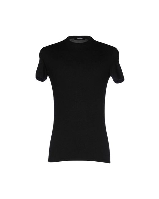 DSquared² | Black T-shirt for Men | Lyst