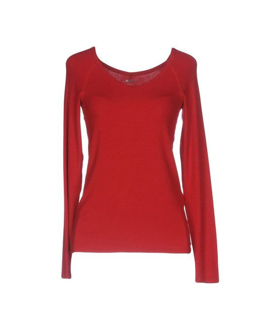 Three Dots T Shirt In Red Lyst