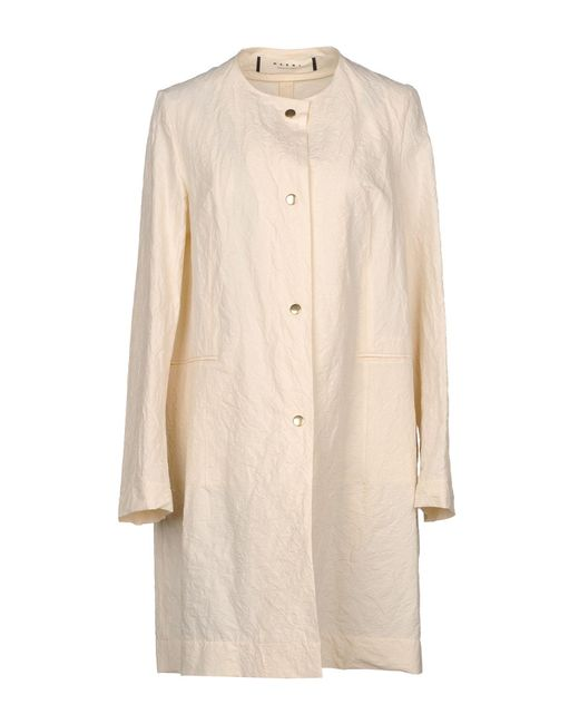 Marni - White Overcoat - Lyst