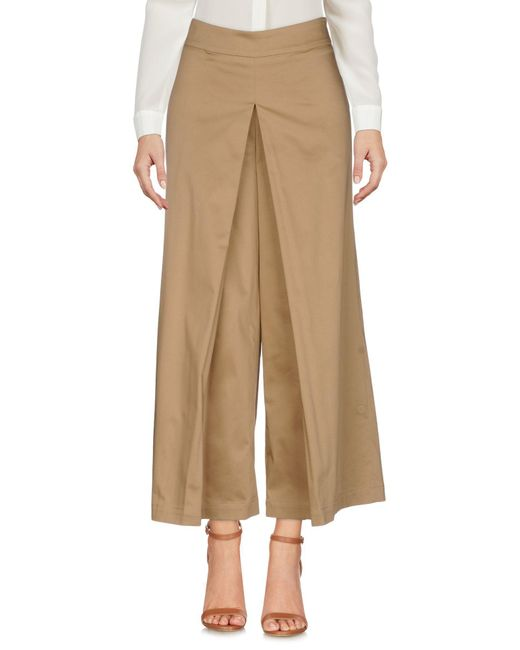 Malloni - Natural Casual Trouser - Lyst