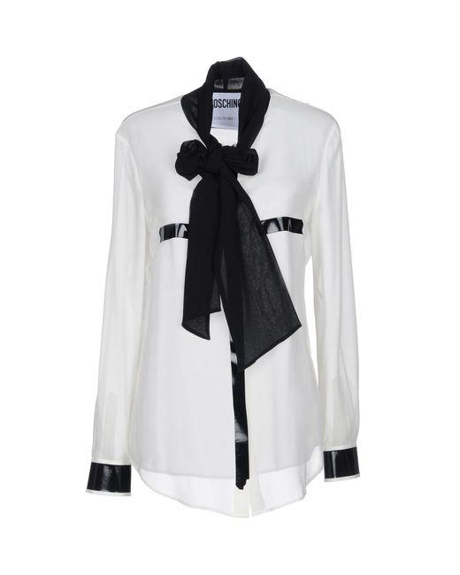 Moschino - White Shirt - Lyst