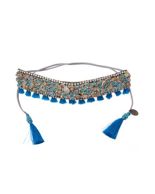 Deepa Gurnani - Blue Necklace - Lyst