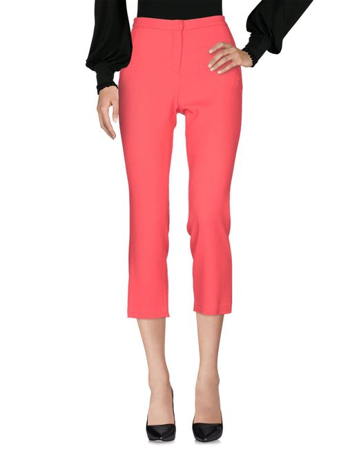 Betty Blue - Red 3/4-length Trousers - Lyst
