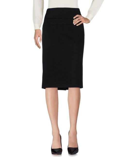 Balenciaga - Black 3/4 Length Skirt - Lyst