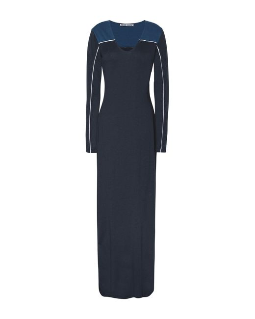 Pierre Darre' - Blue Long Dress - Lyst