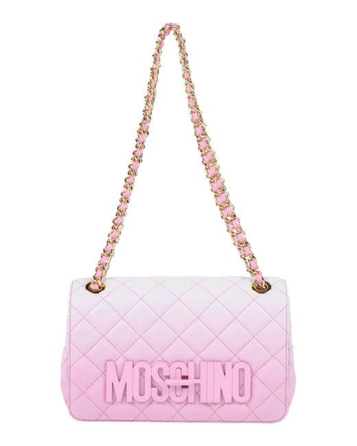 Moschino - Pink Shoulder Bag - Lyst