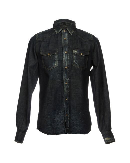 DIESEL | Blue Denim Shirt for Men | Lyst