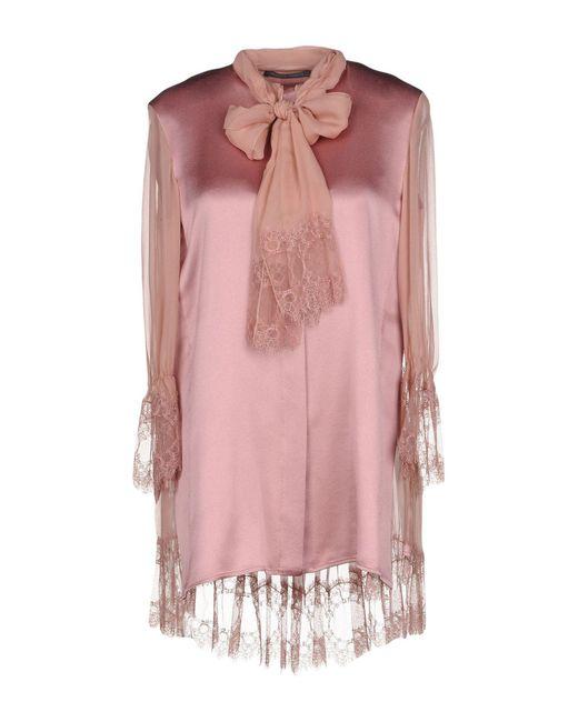 Alberta Ferretti - Pink Shirt - Lyst