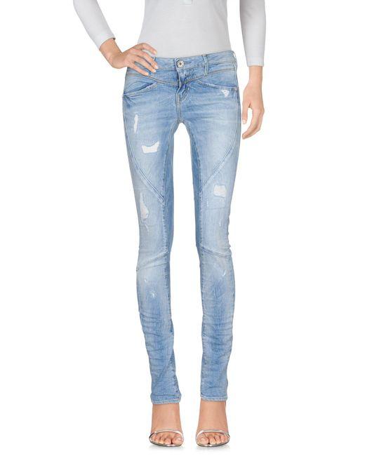 Guess - Blue Denim Pants - Lyst