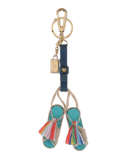 Dolce & Gabbana - Blue Key Ring - Lyst