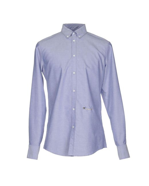 DSquared² - Blue Shirt for Men - Lyst