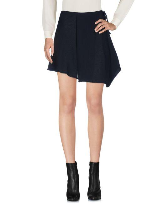 Ann Demeulemeester - Black Mini Skirt - Lyst