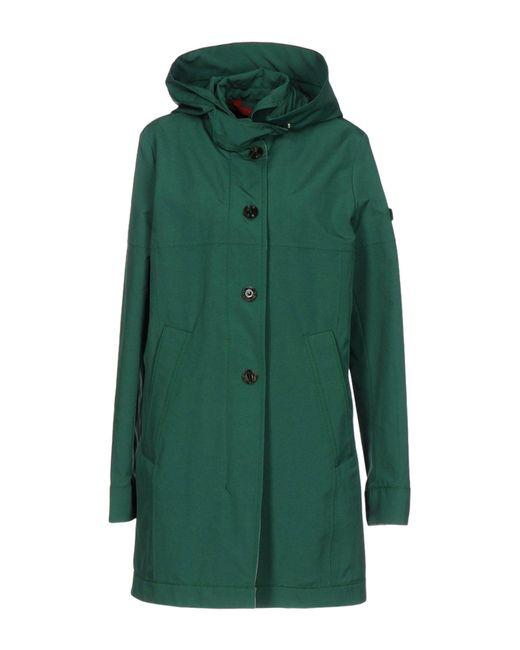 Peuterey - Green Overcoat - Lyst