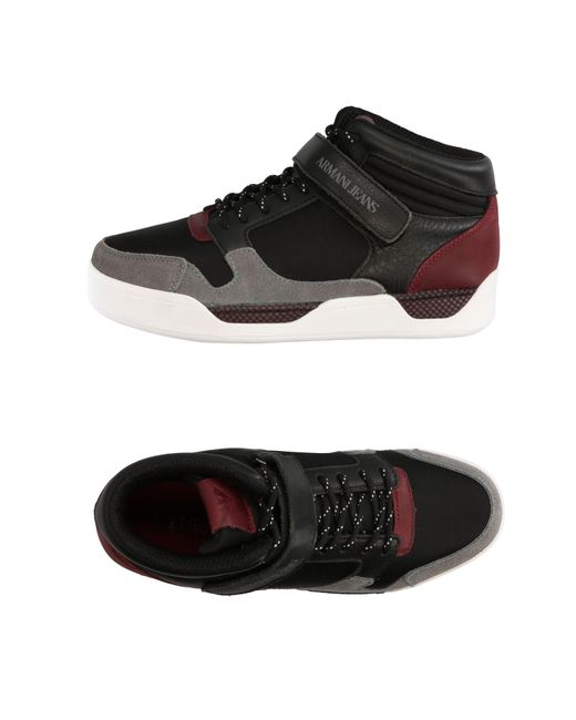 Armani Jeans - Black High-tops & Sneakers for Men - Lyst