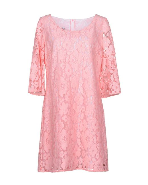 Blue Bay - Pink Short Dress - Lyst