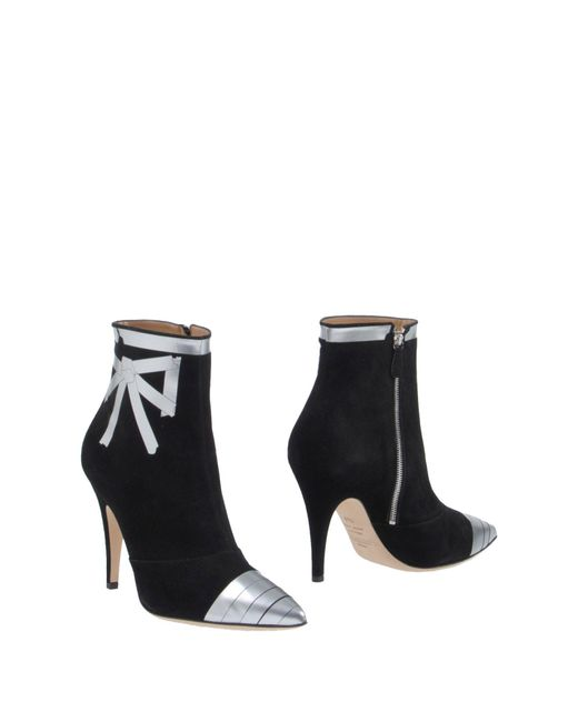 Moschino - Black Ankle Boots - Lyst