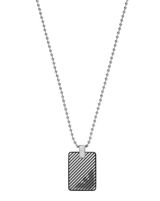 Emporio Armani - Metallic Necklaces for Men - Lyst