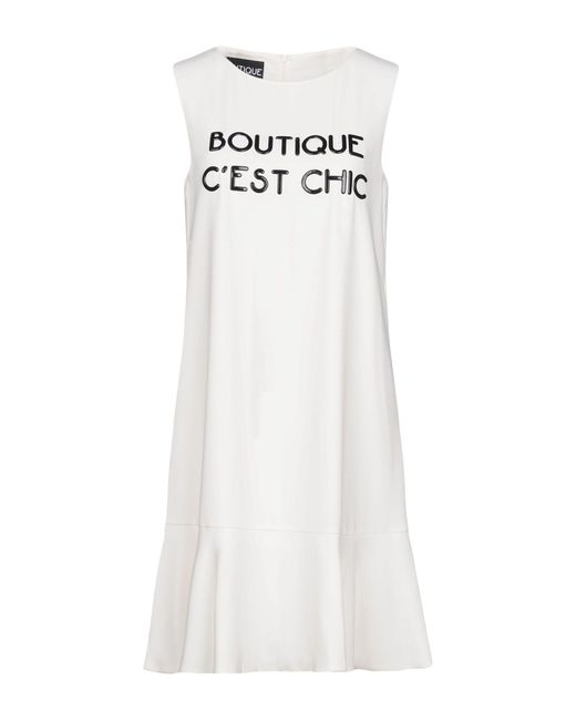 Boutique Moschino - White Short Dresses - Lyst