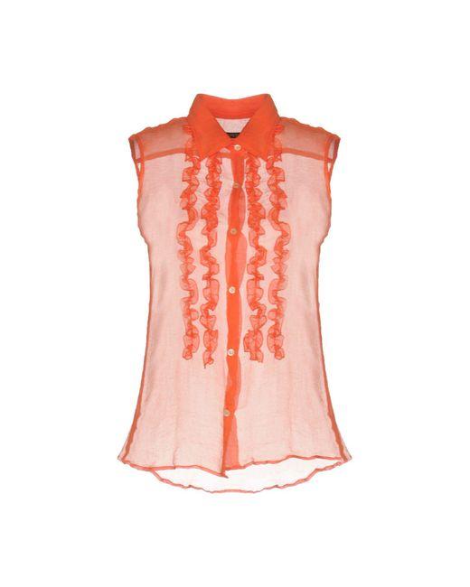Aspesi - Orange Shirt - Lyst