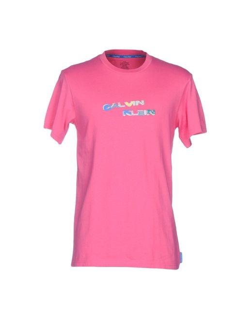 Calvin Klein | Pink T-shirt | Lyst