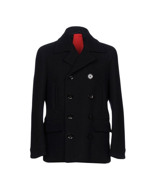 Dondup - Blue Coat for Men - Lyst