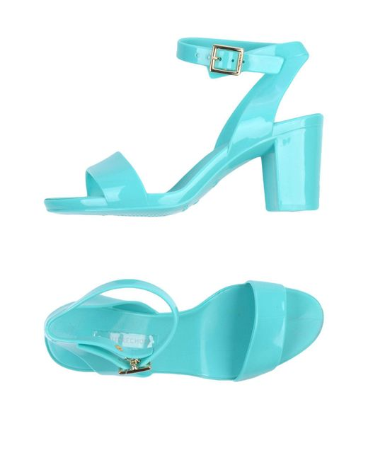 L'Autre Chose - Green Sandals - Lyst