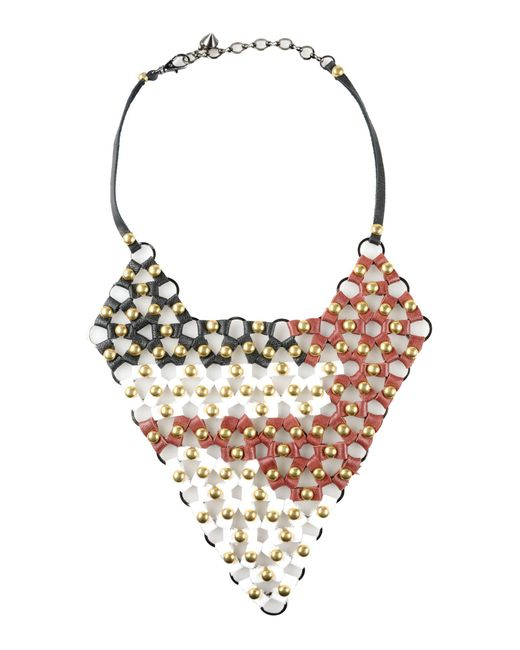 First People First - White Necklace - Lyst