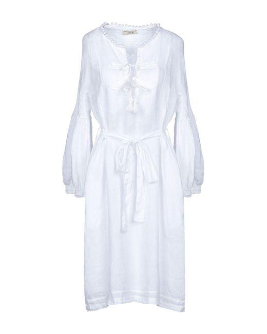 Luna Bi - White Knee-length Dress - Lyst