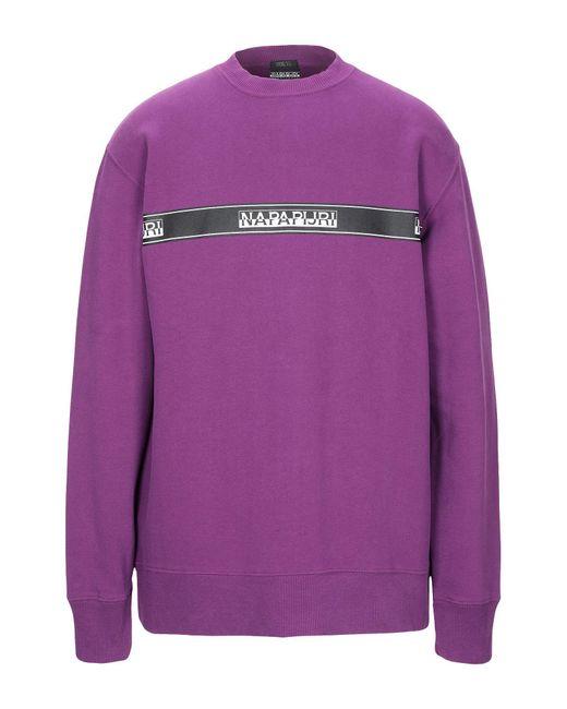 Napapijri - Purple Sweatshirt for Men - Lyst