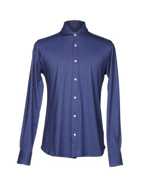 Fiorio - Blue Shirts for Men - Lyst