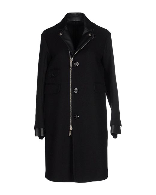 DSquared² - Black Overcoat - Lyst