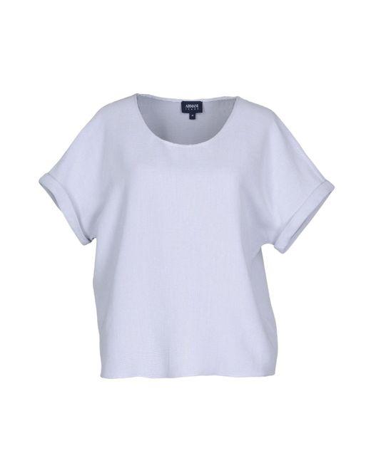 Armani Jeans - Gray Blouse - Lyst