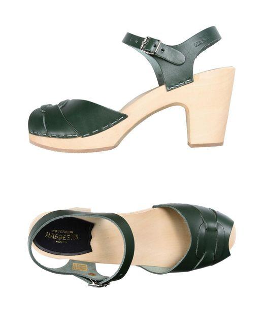 Swedish Hasbeens - Green Sandals - Lyst