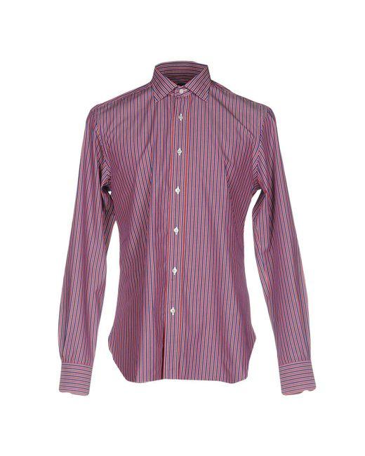 Mp Massimo Piombo - Red Shirt for Men - Lyst