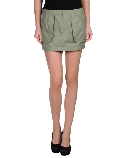 Ports 1961 - Green Mini Skirt - Lyst
