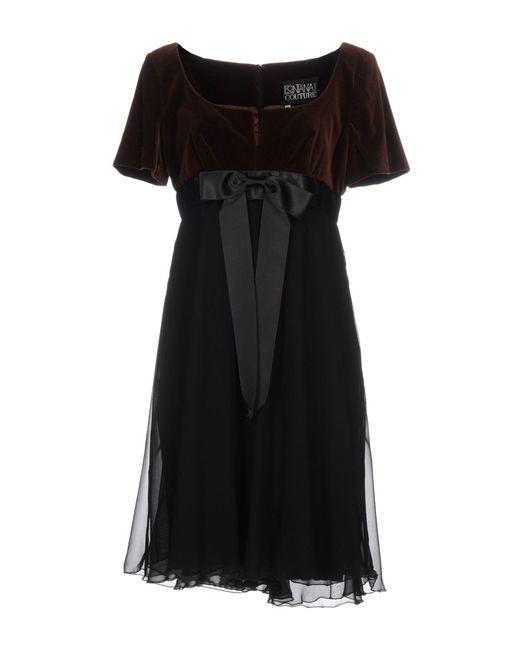 Fontana Couture - Brown Short Dress - Lyst