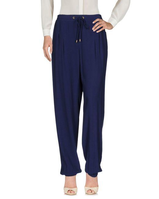 MICHAEL Michael Kors | Blue Casual Trouser | Lyst