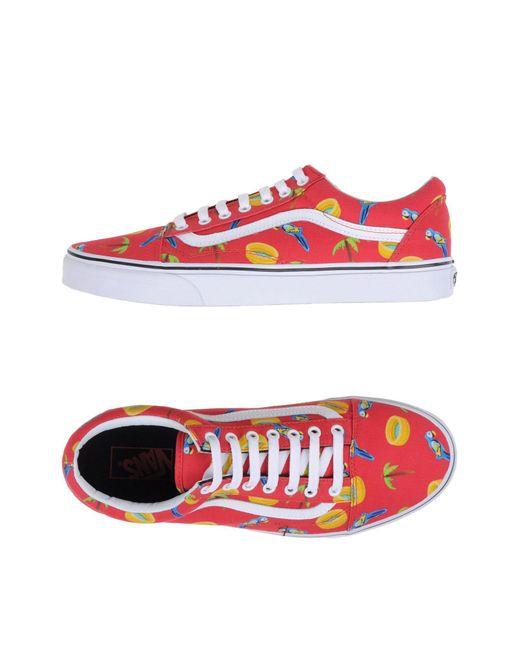 Vans - Red Low-tops & Sneakers for Men - Lyst