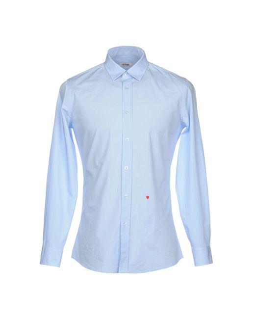 Moschino - Blue Shirt for Men - Lyst