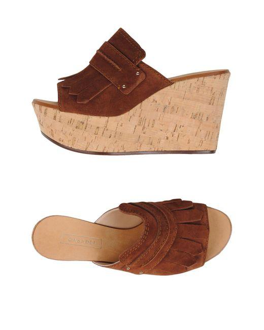 Casadei | Brown Sandals | Lyst