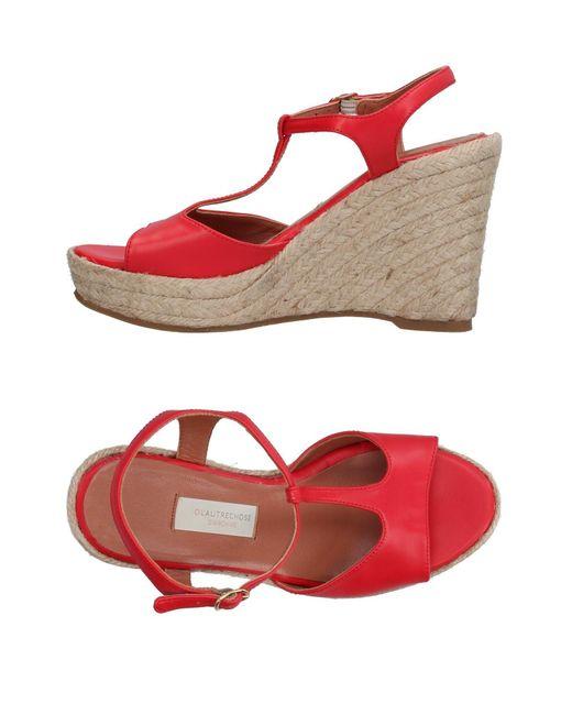 L'Autre Chose - Red Sandals - Lyst