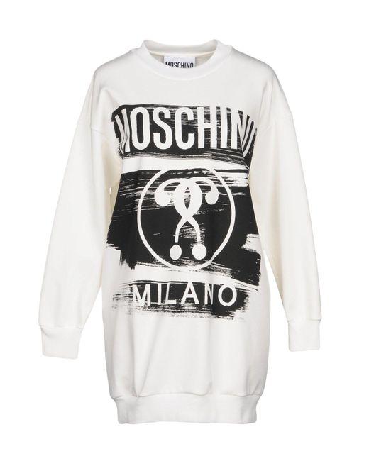 Moschino - White Sweatshirts - Lyst