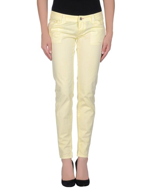 Jcolor - Yellow Casual Trouser - Lyst