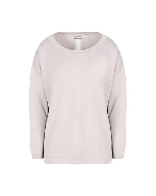 Napapijri - Gray Long Sleeve Sweater - Lyst