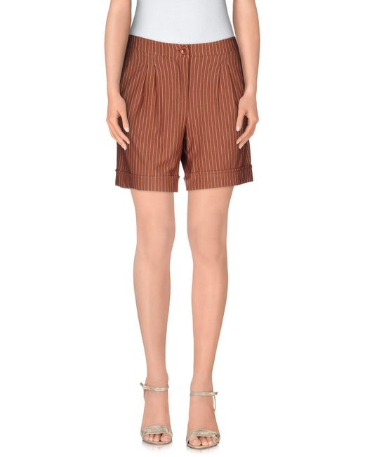 Soallure | Brown Bermuda Shorts | Lyst