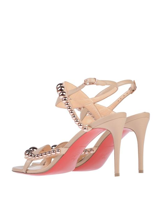 45acc55483df ... Christian Louboutin - Pink Sandals - Lyst ...