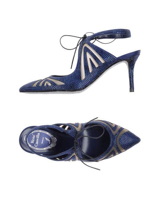 Rene Caovilla - Blue Court - Lyst