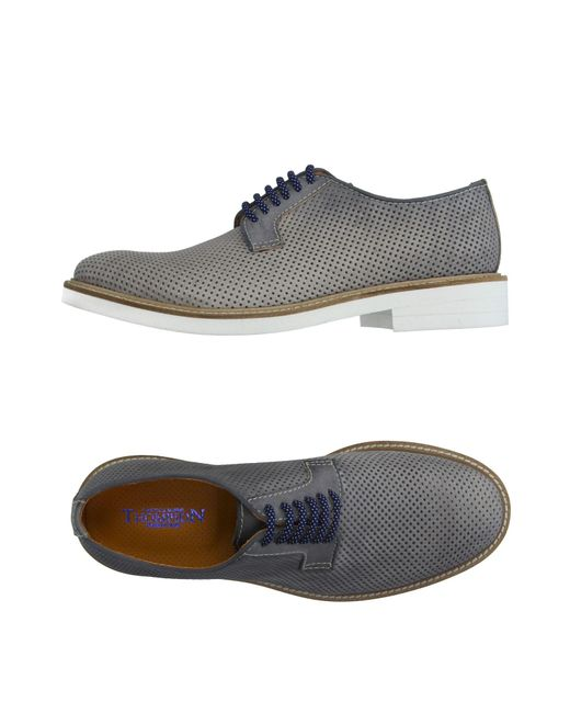 Thompson - Gray Lace-up Shoe for Men - Lyst